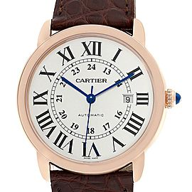 Cartier Ronde Solo XL Rose Gold Steel Mens Watch W6701009 Unworn