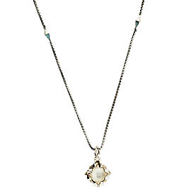 Stephen Webster Superstud Small Square Mother Of Pearls Crystal Haze Necklace