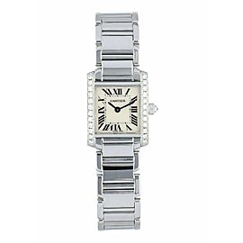 Cartier Tank Francaise 2403 White Gold Diamond Watch