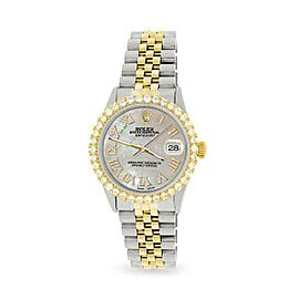 Rolex Datejust 36mm 2-Tone WATCH/3.10ct Diamond Bezel/Champagne MOP Diamond Dial