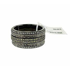 Stephen Webster Highwayman Diamond & Sapphire Silver Spinning Ring SZ9