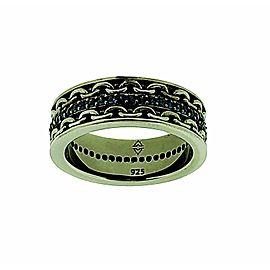Stephen Webster Alchemy in UK Black silver Men's Blue Sapphire Ring Size 10.5