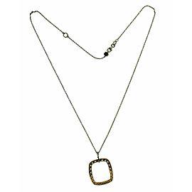 Tacori FP510PK 18K Rose And White Gold Diamond Square Necklace pendant