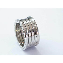 Bulgari B Zero 18Kt 10mm Ring White Gold Size 54