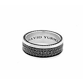 David Yurman Black Diamonds Streamline Three Row Ring Size 10
