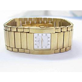 Baume & Mercier Catwalk 18K yellow gold diamond dial watch 21MM 86G MVO45223