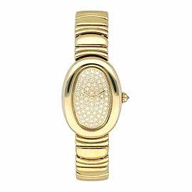 Cartier Baignoire WB5021D8 Diamond Dial Ladies Watch Box Papers