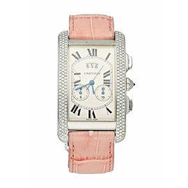 Cartier Tank Americaine 2569 White Gold Diamond Ladies Watch