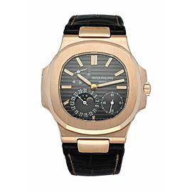 Patek Philippe Nautilus 5712R Moonphase 18K Rose Gold Men's Watch Box & Papers