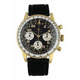 "Breitling Cosmonaute Rare Yellow Gold ""Joradnian Air Force "" Watch"