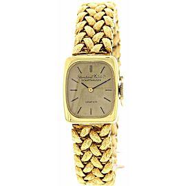 Ladies Vintage IWC Schaffhausen 18K Yellow Gold Watch By Tiffany & Co.