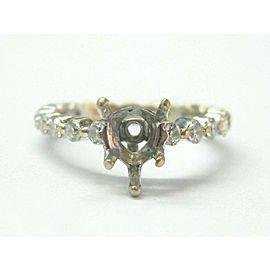 Ritani 18Kt Diamond White Gold Semi Mount Ring .73Ct ( 9.5mm x 6mm )