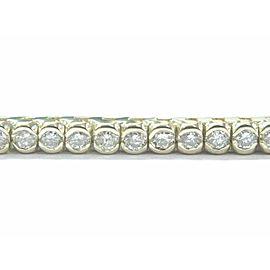 "Bezel Set Round Diamond Tennis Bracelet 14Kt Yellow Gold 3.00Ct I-J/SI1 7 1/4"""