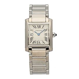 Cartier Tank Francaise 2403 18K White Gold Ladies Watch
