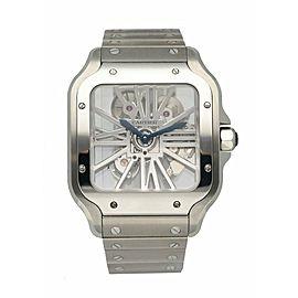 Cartier Santos WHSA0015 Large Skeleton Men's Watch Box & Papers