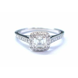 Tiffany & Co Platinum Legacy Diamond Engagement Ring .59Ct H-VS2 COMPLETEPACKAGE