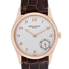 Patek Philippe Calatrava Rose Gold Silver Dial Automatic Watch 5026R