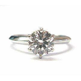 Tiffany & Co Platinum Round Diamond Solitaire Engagement Ring 1.19CT H-VS1