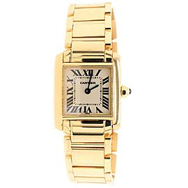 Cartier Tank Francaise 20MM Yellow Gold Roman Dial Ladies Watch W50002N2