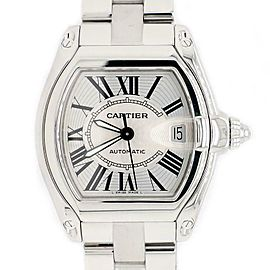 Cartier Roadster Silver Guilloché Large Stainless Steel Watch W62025V3