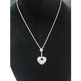 UNOAERRE 18KT Heart Diamond Pendant Necklace White Gold 1.71CT