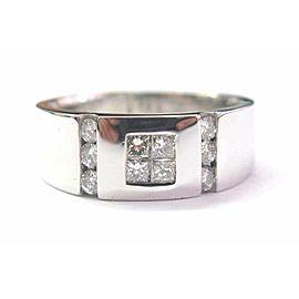 Fine 18Kt Multi Shape Diamond White Gold Jewelry Ring 0.65CT