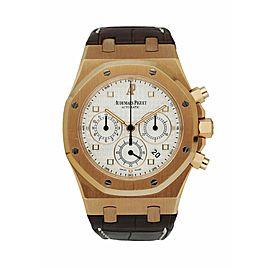Audemars Piguet Royal Oak 26022OR 18K Rose Gold Chronograph Men's Watch