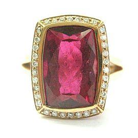 Hot Pink Tourmaline & Diamond Ring 14Kt Rose Gold Split Shank 12.50CT SIZEABLE