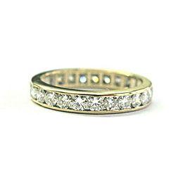 Round Brilliant Diamond Eternity Band 14Kt Yellow Gold 25-Stones 1.25Ct Size 5