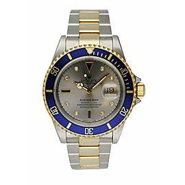 Rolex Submariner Date 16613 18K Yellow Gold & Stainless Steel Men's Watch