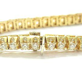 "Round Diamond Tennis Bracelet 14Kt Yellow Gold 12.30Ct 8"" G/VS2-SI1"