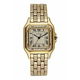 Cartier Panthere 18K Yellow Gold Diamond Bezel Midsize Watch
