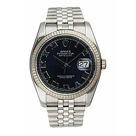 Rolex Oyster Perpetual Datejust 116234 Engraved Rehaut Men's Watch
