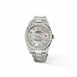Rolex Datejust II 41mm 4.5CT Diamond Bezel/Lugs/Champagne MOP Dial Box Papers
