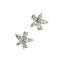 Tiffany & Co Large Victoria 1.77 Carat Mix Cluster Diamond Earrings