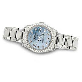 Rolex Datejust 36mm 5.9ct Diamond Bezel/Lugs/Bracelet/Sky Blue