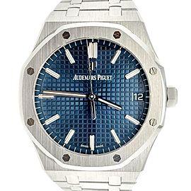 Unworn Audemars Piguet Royal Oak 41mm Blue Dial Steel 15500 Watch