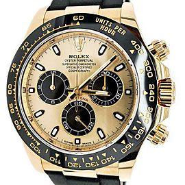 Rolex Cosmograph Daytona 40mm YG Oysterflex Champagne Dial Watch