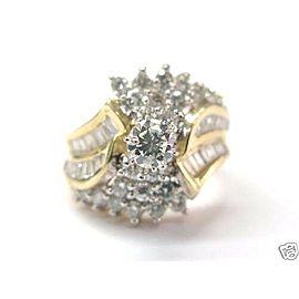 Multi Shape Diamond Engagement Ring 14KT Yellow Gold 1.46Ct