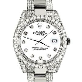 Rolex Datejust II 41mm 10.3CT Diamond Bezel/Case/Bracelet/White Dial/