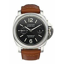 Panerai Luminor PAM104 Stainless Steel Automatic Men's Watch Box & Papers