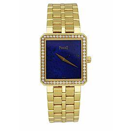 Piaget 50155 M601D Lapis Dial 18K Yellow Gold Diamond Bezel Set Ladies Watch