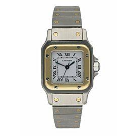 Cartier Santos Galbee Two Tone Ladies Watch
