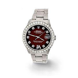 Rolex Datejust 31mm 1.52ct Bezel/Maroon Vignette Diamond Roman VI Dial Watch