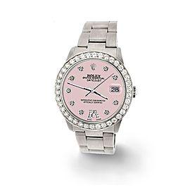 Rolex Datejust Midsize 31mm 1.52ct Bezel/Orchid Pink Diamond Roman VI Dial Watch