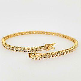 "6.67ct Diamond 14k Yellow Gold 8.5"" Tennis Bracelet"