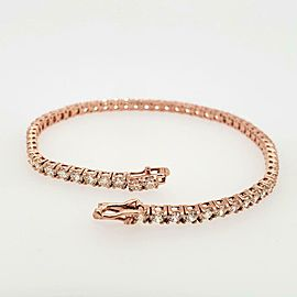 "6.67ct Diamond 14k Rose Gold 8.5"" Tennis Bracelet"
