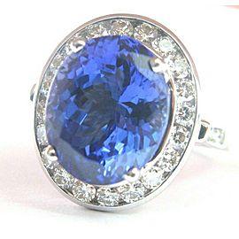 NATURAL 18Kt Gem Tanzanite & Diamond Anniversary Jewelry Ring WG 8.13CT