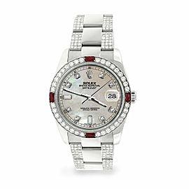 Rolex Datejust 36mm 4.5Ct Diamond Bezel/Bracelet/Champagne MOP Dial 116200 Watch