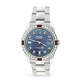 Rolex Datejust 36mm 4.5Ct Diamond Bezel/Bracelet/Black Pearl Dial 116200 Watch